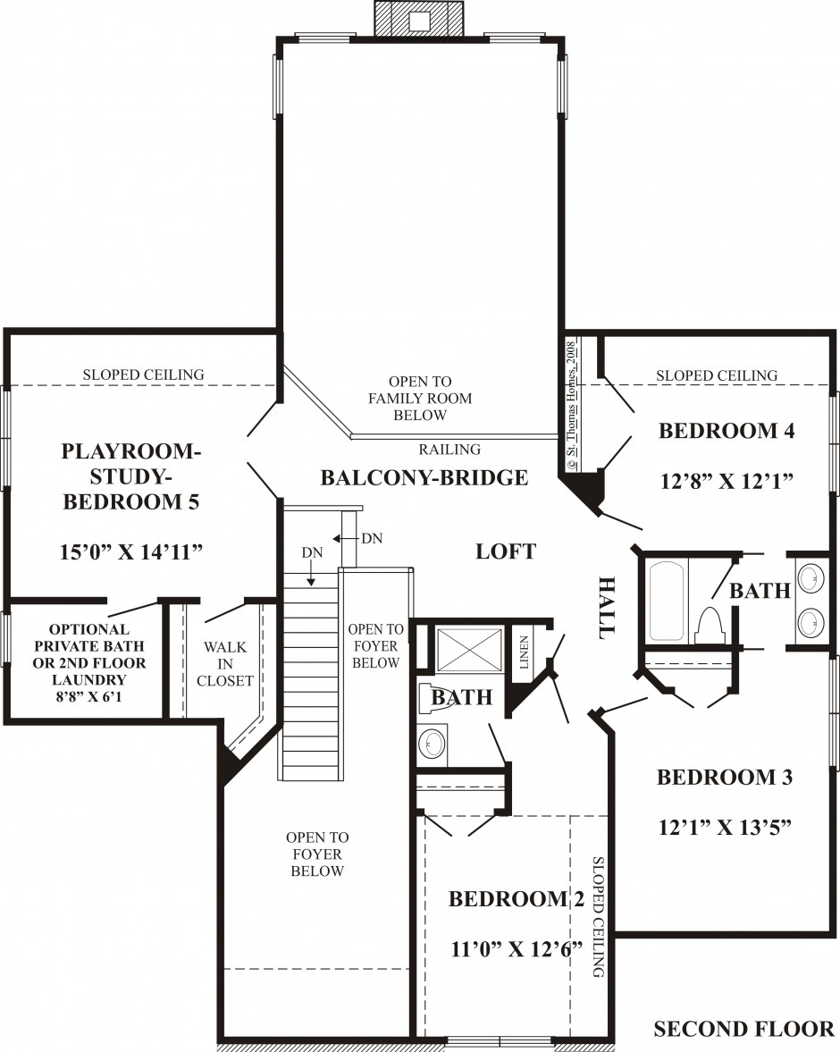 Elanor K 2nd floor plan
